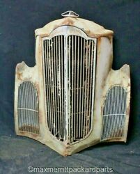1940 Packard Junior Grille Shell Grilles And Hood Ornament - Rat Rod Wall Art