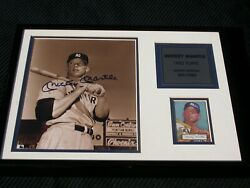 Topps Mickey Mantle Limited Ed. Picture And Card Coa