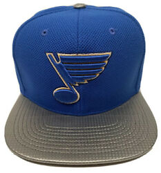 Zephyr Nhl St. Louis Blues Carbon Flat Bill Snapback Hat Brand New With Tags