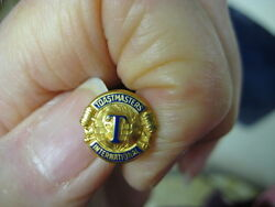 Vintage Toastmasters Pin Excellent Shiny Gold Metal