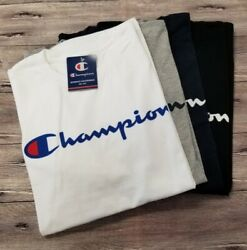 (Authentic with TAG)  Champion Men's Jersey Script Logo Short Sleeves T-Shirt