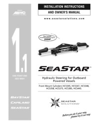 Seastar Hc5345-3 Hydraulic Cylinder Front Mount Boat Steering For Nissan-tohatsu