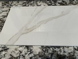 12x24 Calacatta Gold Polished Porcelain Tile Sold By Pallet 720 Sqft