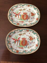 Pair Of Chamberlains Royal Worcester 568 Small Platters C 1810