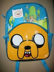 New Adventure Time Jake the Dog Cartoon Network blue black canvas backpack * $16.99