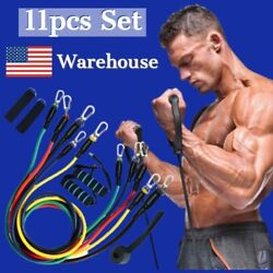 2020 Resistance Bands Set 11pieces | Free Shipping | 100lbs - Ship From Ny