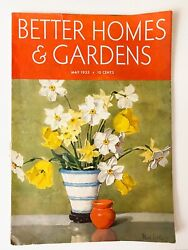 May 1935 Better Homes And Gardens Magazine Book Antique 1930's Home Nostalgia