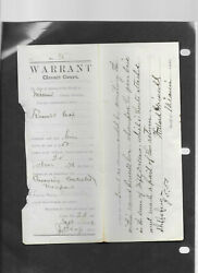 16 1800and039s Indiana State Summons Warrants Wabash Circuit Court Paper Documents 1