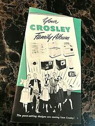 1950's Crosley Advertising Catalog With Appliances, Televisions, Radios