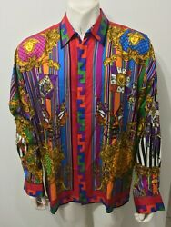 Gianni Versace Atelier Collection - Versace Silk Menand039s Shirt Ultra Rare