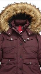 Special Price 40.00 Girls Canada Weather Gear Parka Cranberry Size 5/6