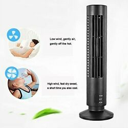 Home Tower Fan 2 Wind Speed Setting Vertical USB Cooling Room Space Saving Stand