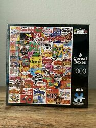 White Mountain Puzzle Vintage G Cereal Boxes 1000 Piece - Sealed - New