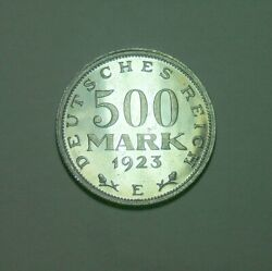 Germany Weimar 1923 E 500 Mark Proof Only 2053 Pcs Mintage Very Rare