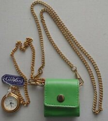Vintage Giovani Beverly Hills Chain/pocket/purse Watch Withtagsrare