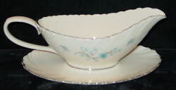 Discontinued Lenox China Chanson Pattern Gravy Boat With Attached Underplate New