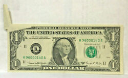 United States 1969 1.oo Dollar Huge Butterfly Fold Error Very Scarce And Unc