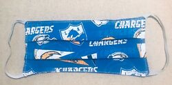 Face Mask NFL Los Angeles Chargers Washable 2-sided 100% Cotton