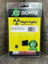 Xs Sights Ram Night Sights For Sandw Mandp And M2.0 Shield Sw-r033s-6g Green