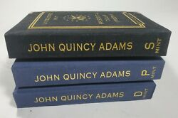 2008-p D S Ms 67/pr69 Anacs United States President John Quincy Adams 3 Coin Lot
