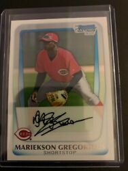 2011 Bowman Chrome Prospects Refractor Bcp209 Didi Gregorious 115/500 Phillies