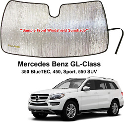 Side Window Front Seat Sunshade For 2013-2019 Mercedes Benz Gl-class 2 Pcs