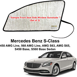 Side Window Front Seat Sunshade For 2014-2020 Mercedes Benz S-class 2 Pcs
