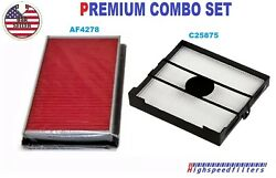 Premium Combo Engine Air Filter + Cabin Filter For 2004 - 2008 Subaru Forester