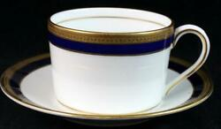 Coalport Elite Royale Flat Cup And Saucer Bone China Great Condition Mfg 2nd