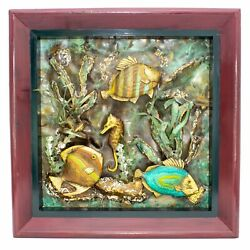 Fco Lopez Metal Hand Painted Marine Life Fish Wall Hanging 3d Pop Art Sculpture