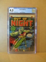 Out Of The Night 7 Cgc 4.5 Scarce Witch C 1953 Acg Pre-code Horror Vg+1568576017
