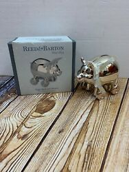 Reed And Barton Silver Plated Piggy Bank On Wheels Baby Shower Gift