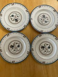 """Vintage Royal Doulton Old Colony Floral Saucers Plate 6"""" Set Of 4 Made Inengland"""
