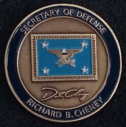 Authentic Secretary Of Defense Richard Cheney Secdef Bush Appoint Challenge Coin