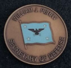 Authentic Secretary Of Defense William Perry Secdef Clinton Appt Challenge Coin