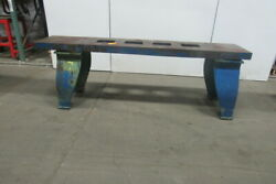 Vintage Cast Iron Webbed Top Machine Base Work Table Bench 102x20-5/8x33-3/4h