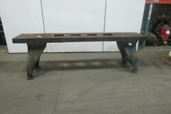 Vintage Cast Iron Webbed Top Machine Base Work Table Bench 108x20-3/4x33-1/2h