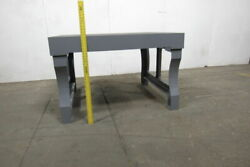Vintage Cast Iron 55x47x35 Layout Inspection Work Table Bench W/cast Iron Legs