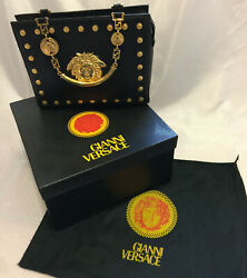Gianni Versace Bag Leather Medusa  Never Used 80s vintage RARE Lady Gaga $3,532.34