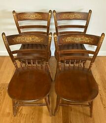 Vintage Set Of 4 Hitchcock Chairs Harvest Style 1960s To 1970s