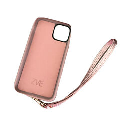 Pearl Pink Protective Phone Case Zip Wallet Case Wristlet i11 Pro or i10 $15.99