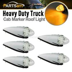 5xclear Lens Torpedo Clearance Roof Running Top 17 Led Amber Lights For Kenworth
