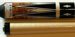 Players Pool Cue G-4115 Antique Curly Maple New Free Shipping Free Hard Case