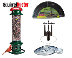 Brome Squirrel Buster Plus Bird Feeder Kit With Weather Guard, Seed Buster Tray