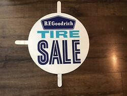 """B.f. Goodrich Tires Gas Station 15 3/4"""" Double Sided Metal Tire Sale Insert Sign"""