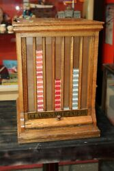 Early 1900s Clark's Mile-end Spool Cotton Counter Display Case Cabinets