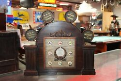 1920-30s Attracto Clockworks Jewelry Store Counter Ring Display Sign