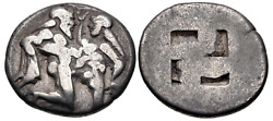 Islands Off Thrace Thasos. Circa 480-463 Bc. Ar Stater 22mm 8.74 G