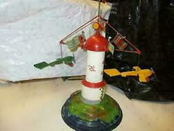 Tucher Walther Tin Wind Up Musical Spinning Tower With Air Planes