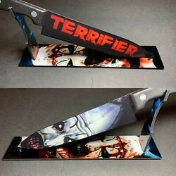 Terrifier Art the Clown 2016 Kitchen Knife With Sublimated Stand